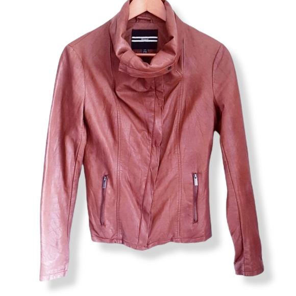 DYNAMITE Brown Faux Leather Jacket
